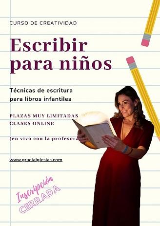 Cartel de información  ESCRIBIR PARA NIÑOS